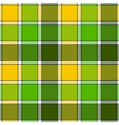 Green yellow check plaid seamless pattern vector