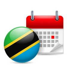 Icon of national day in tanzania vector