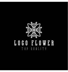 Logo abstract flower flat style vector
