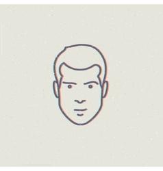 man face vector image vector image