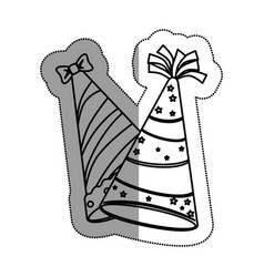 party hat celebration icon vector image vector image