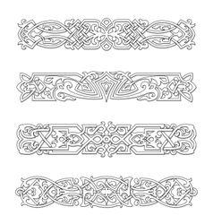 Retro borders and ornaments vector image vector image