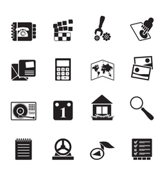 Silhouette Mobile Phone and Computer icon vector image vector image