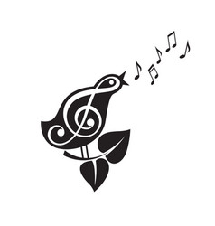 Singing bird icon vector