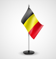 Table flag of belgium vector