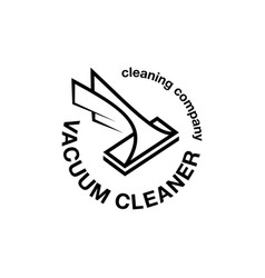 Vacuum cleaner abstract emblem vector
