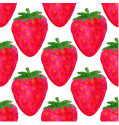 watercolor seamless pattern strawberry background vector image vector image