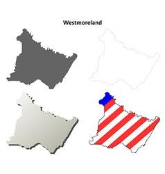 Westmoreland map icon set vector