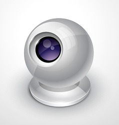 White webcam vector