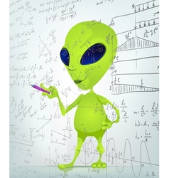 Cartoon alien maths vector