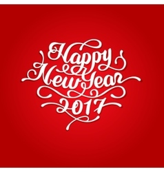 Happy New Year 2017 lettering vector image