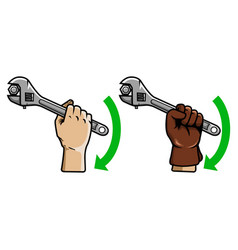 using wrench vector image