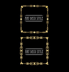 Elegant antiquarian golden square frames in art vector