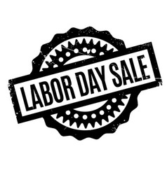 Labor day sale rubber stamp vector