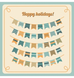 Set of bunting and garland vector