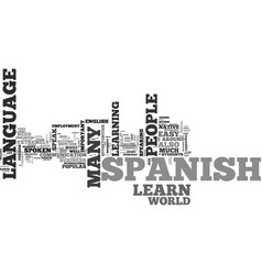 Why should i learn spanish text word cloud concept vector