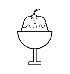 Sweet pudding isolated icon vector