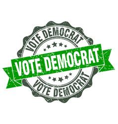 Vote democrat stamp sign seal vector