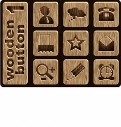 Wooden icons vector