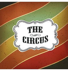 circus lines retro background vector image