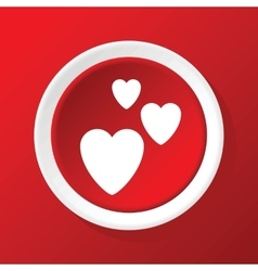 Love icon on red vector