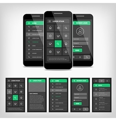 Mobile ui vector