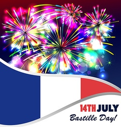 14th july bastille day of france vector