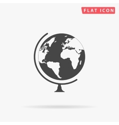 Globe simple flat icon vector