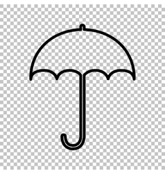 Umbrella sign icon vector