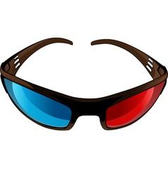 3d Glasses vector image