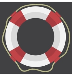 Lifebuoy web flat icon vector