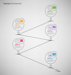 Time line info graphic with thin line rounds vector