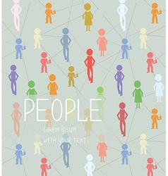 Abstract background with people social network vector image