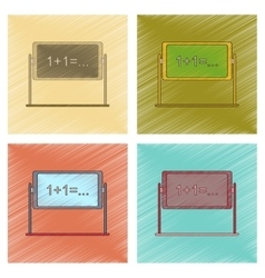assembly flat shading style icon school blackboard vector image vector image