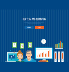 Business management collaboration and ideas vector
