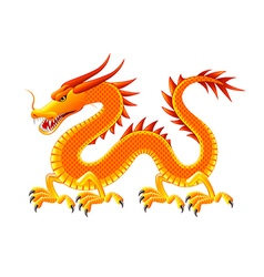 Chinese dragon isolated on white vector image vector image