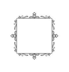 classic elegant vintage square frame vector image vector image