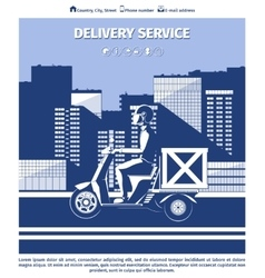Delivery man on motorcycle vector image