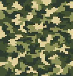 Digital green camouflage vector