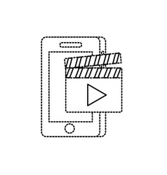 Dotted shape smartphone technology with vector
