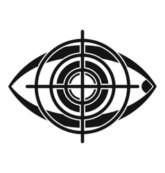 Eye and target icon simple style vector