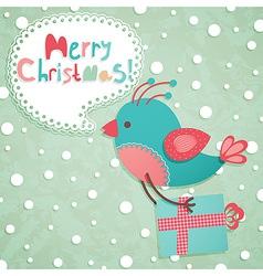 funny christmas postcard vector image vector image