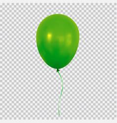 Green helium balloon isolated on transparent vector