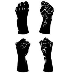 Hands fist vector