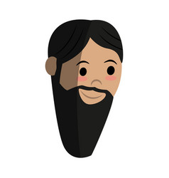 Head of man with long beard icon image vector