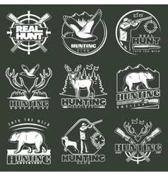 Hunting club emblem set vector