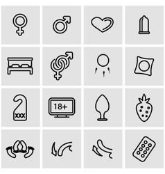 line sex icon set vector image vector image