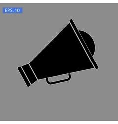 Loudspeaker icon on grey vector image