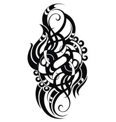 Maori styled tattoo pattern vector image