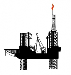 oil drilling platform vector image